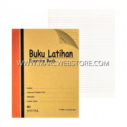 SPECTRA EXERCISE BOOK (R/B4 LINE) 80PAGES