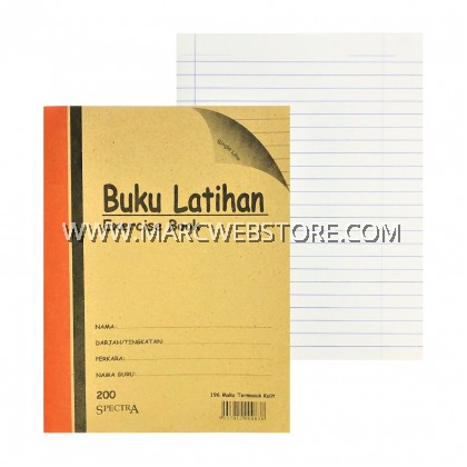 SPECTRA EXERCISE BOOK (SINGLE LINE) 200PAGES