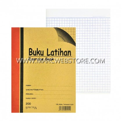 SPECTRA EXERCISE BOOK (SMALL SQUARE) 200PAGES