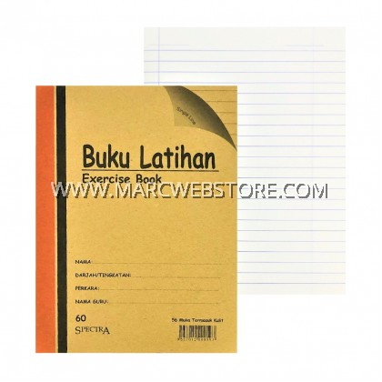 SPECTRA EXERCISE BOOK (SINGLE LINE) 60PAGES